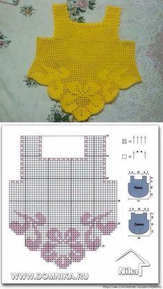 (1367) Pinterest Filet Crochet, Pull Crochet, Crochet Diy, Crochet Toddler, Diy Crochet Sweater, Crochet Girls, Crochet Baby Clothes, Crochet For Kids, Crochet Shawl