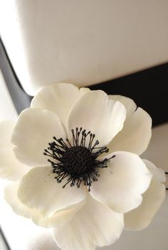 https://flic.kr/p/7GXMbz | ANEMONE CLAY FLOWER CAKE TOPPER | Anemones are a very…