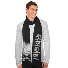 "GabiGabi Monster Scarf""GabiGabi Monster"" Scarf 8D #Cat #Monster #Scarf #creature"
