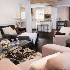 Affordable, Premium Mid-sized Living Room Design Ideas, Pictures, Remodel & Decor with Dark Hardwood Floors