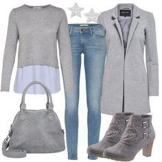 fb8aafd8a682c Moderner Look aus rosa Lederjacke, grauen Nike's... #fashion ...