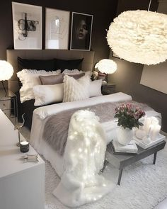 Werbung/Advertisement ( Markennennung) Wish you all a nice evening. Cute Bedroom Ideas, Cute Room Decor, Room Ideas Bedroom, Girl Bedroom Designs, Home Decor Bedroom, Living Room Decor, Luxury Bedroom Design, Glam Bedroom, Teen Bedroom