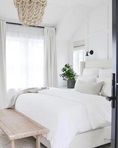 Dream Bedroom, Home Decor Bedroom, Light Master Bedroom, Cozy White Bedroom, Cream And White Bedroom, Neutral Bedroom Decor, Airy Bedroom, Serene Bedroom, Neutral Bedrooms