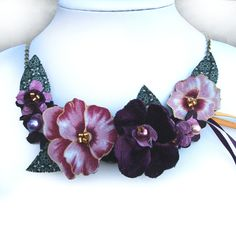 A popular colour choice in my pansy range by CraftyJoDesigns https://www.etsy.com/uk/listing/218590125/purple-plum-fabric-flower-pansy-necklace?ref=shop_home_active_2