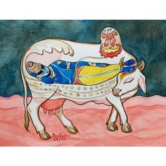 krishna in cow Art Print by gourav sharma - X-Small Krishna Hindu, Shri Hanuman, Baby Krishna, Lord Krishna Images, Radha Krishna Images, Pichwai Paintings, Indian Paintings, Lord Krishna Wallpapers, Indian Folk Art
