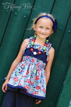 Sabrina's Ruffled Top and Dress PDF Pattern by CreateKidsCouture