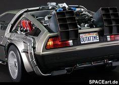 Zurück in die Zukunft 1: Giant Delorean Time Machine, Fertig-Modell ... http://spaceart.de/produkte/btf005.php