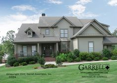 Mayfair A House Plan 02094, Front Elevation, Traditional Style House Plans, Master Down House Plans