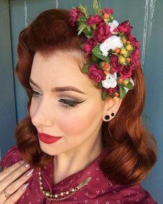 Výsledok vyhľadávania obrázkov pre dopyt rockabilly flower hair