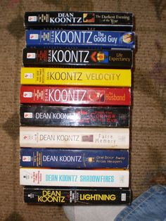 Top Ten Dean Koontz Books. Love Dean Koontz for a little light reading at bedtime, especially the Odd  Thomas series. Odd is a very old soul in a young body, able to keep the darkness at bay.