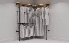 Tugboat Urban Design by Wilson and Wood One of the new designs in our shop: our Sennen Handmad Open Wardrobe, Wardrobe Rack, Steel Wardrobe, Bedroom Wardrobe, Hanging Rail, Hanging Storage, The Scaffold, Scaffold Boards, Coat Rail