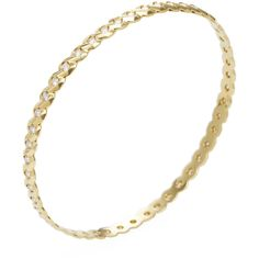 Ron Hami Women's 18K Yellow Gold & 1.57 Total Ct. Diamond Braided... (4,300 NZD) ❤ liked on Polyvore featuring jewelry, bracelets, no color, bangle bracelet, diamond jewelry, gold bangles, gold diamond bangle and 18 karat gold jewelry