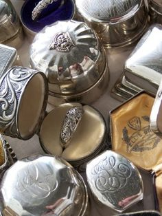 *Antique Ring Boxes...treasures to find at a flea market~