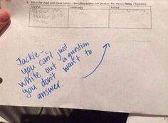 This kid, who thought she figured out a seemingly foolproof way to avoid a wrong answer. | 19 Times Kids' Test Answers Were Way Too Real