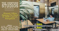 furnished and shared office space for rent & plug and play office in HSR Layout Bangalore. Equipped with high-speed wifi, private meeting rooms all kinds of facilities, flexible offices, cafe, parking and much more. Visit us # Office Admin, Shared Office, Power Backup, Best Places To Work, Meeting Rooms, Site Visit, Office Setup, Gym Membership, Business Centre