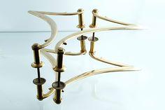 アンティーク 真鍮無垢のドアハンドル 両面2ペア ガラスドアにも フランスアールデコ期 bh638 - アンティーク&オールディーズ オンラインストア