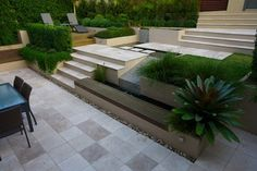 Creative Landscaping - Tips from the pros for a hillside garden Creative Landscape, Contemporary Landscape, Landscape Design, Garden Design, Terrace Design, Garden Art, Hillside Garden, Sloped Garden, Modern Landscaping