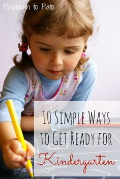 10 Simple Ways to Prep Kids for Kindergarten {Playdough to Plato}