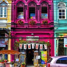 Wanderlust burst of color  Kaeng Hang Le (แกงฮงเล) colorful houses on a Thai street @500px #globalnomad #travelswagger #wanderlust #yolo #instatravel #millennials #igtravel #fernweh #mytinyatlas #rtw #bucketlist #adventure #vacation #voyage #instapassport #travel  #travelporn #travelgram #travelphotography  #traveltheworld #travelgrammers  #igtravel #adventurevisuals #thailand #colorful #streetphotography #doyoutravel #killeverygram #welltraveled #roundtheworld