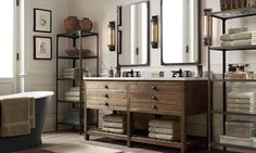 Printmakers Double Vanity Sink   Restoration Hardware