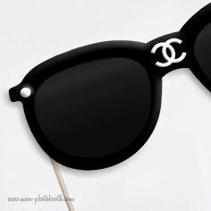 Lunettes de Soleil Chanel Haute Couture Photobooth Accessoire - Mon Photobooth