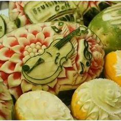 Optimistic Pearl: Fruit -Vegetable Carving, Fruits and vegetables decoration, Salad decoration