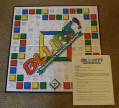$7.95 OR BEST OFFER! Blurt! Game Board and Instructions ONLY Great Condition! For Parts Replacement