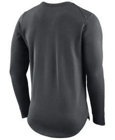 Nike Men's Portland Trail Blazers Practice Therma Crew Sweatshirt - Silver XXL