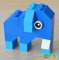 Photo instruction for simple LEGO Elephant