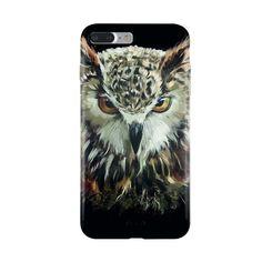 Un Hibou Vintage - Coque iPhone 7 Plus Silicone - KENNAJA ART #iphonecase #phonecases #iphone7pluscase #owlart #owl