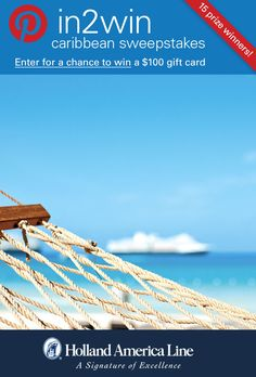 If relaxing ocean-side says Caribbean Vacation to you, enter the @HALcruises #Pin2Win Caribbean #Sweepstakes for your chance to #win 100.00 American Express gift card.  #halfmooncay.  Enter now: http://www.hollandamerica.com/pageByName/Simple.action?requestPage=Pinterest_id=SM_Pinterest_Pin2WinCaribbean