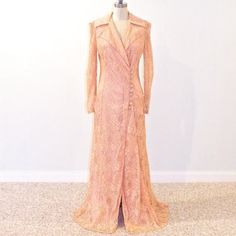 Hey, I found this really awesome Etsy listing at http://www.etsy.com/listing/150043381/1940s-lace-robe-40s-lingerie-peach