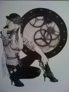 Gamble ART-STEAM PUNK by GambleART on Etsy