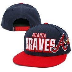 New Era MLB Atlanta Braves Snapback Hats Caps Navy 3206! Only $8.90USD