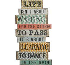 """Learn to Dance In the Rain"" Wall Decor   Inspirational Wall Decor"