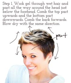 Styling short hair (faux hawk and after cancer) via lilblueboo.com...love her hair do