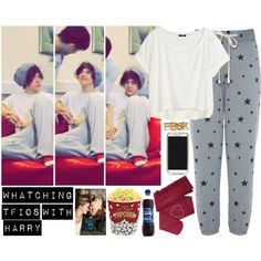 """""""Whatching TFIOS with Harry"""" by directioneruruguaya on Polyvore - I  love this"""