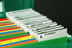 Yep.  I file all my important documents at home.  I wish I had the files color coded and alphabetized like this.
