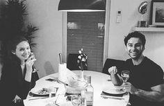 IMAGE COPYRIGHT: Heida Reed on Twitter Aidan and Eleanor at Heida's for dinner.