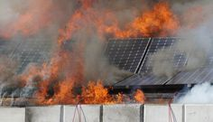 In May of a rooftop solar fire was ignited by the panels of an Apple-owned facility in Mesa, Arizona. That begs to question, with growing demand for green energy, what are the real risks of solar installation catching fire on a rooftop? Sistema Solar, Solar Panel Battery, Solar Panels, Solar Companies, Flood Damage, Solar Installation, Catching Fire, In Law Suite, California Homes
