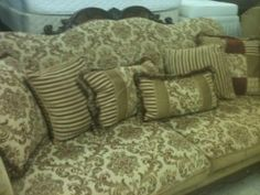 Victorian Sofa Chair & Ottoman SOLD