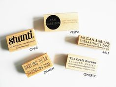 Custom business card stamp | Paper Pastries