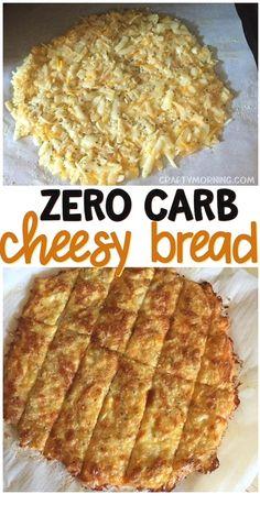 Keto No Carb Cheesy Bread Recipe - delicious keto diet zero carb recipe to recipe pizza crust as well! Keto Foods, Ketogenic Recipes, Low Carb Recipes, Diet Recipes, Keto Snacks, Ketogenic Diet, Healthy Foods, Dessert Recipes, Diet Dinner Recipes