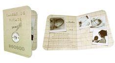 faire-part de naissance - passeport  carnet de voyage