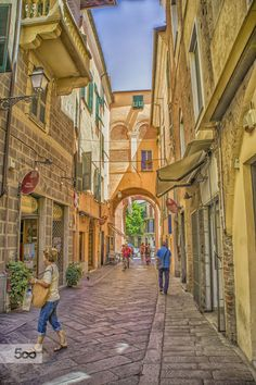 walking in the alleys of the old town by gallogiancarlo on 500px