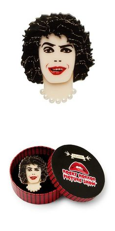 Brooches Pins 152807: Dr. Frank Frank-N-Furter Erstwilder Brooch Rocky Horror Picture Show -> BUY IT NOW ONLY: $31.95 on eBay! Frank Frank, Plastic Jewellery, Rocky Horror Picture Show, Wooden Jewelry, Brooch Pin, Brooches, Jewelry Accessories, Hand Painted, Stuff To Buy