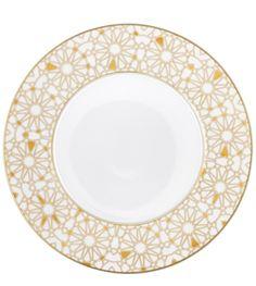 Furstenberg Aureole doree bottom charger plate 32cm white gold porcelain tableware harlequin london