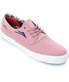 Lakai Limited Footwear teams up with the iconic Sanrio brand to bring to you the Lakai x hello sanrio Camby Sanrio Pink Canvas Skate Shoes. The Camby's have an all canvas upper and the interior is featured with Keroppi, Tuxedo Sam, and other Sanrio charac