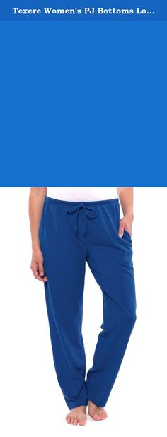 """Texere Women's PJ Bottoms Lounge Pants (Daydreamer, Skydiver, 3X) Best Loungewear for Her TX-WB030-005-SKYD-X-3X. Relax in both style and comfort with our super soft bamboo-viscose PJ lounge pants. Unwind in luxury after a long day. The temperature regulating properties of bamboo-viscose fiber make these bottoms great during any season. Pair it with any PJ top from your closet or wear it together with our versatile short sleeve T-shirt, """"Spring Zing.""""."""