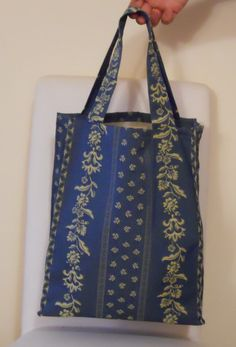 Damask fabric bag by Uzzolo on Etsy
